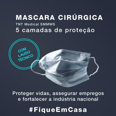 mascaras cirúrgicas TNT SMMMS