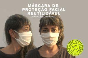 proteção facial em 100% algodão orgânico